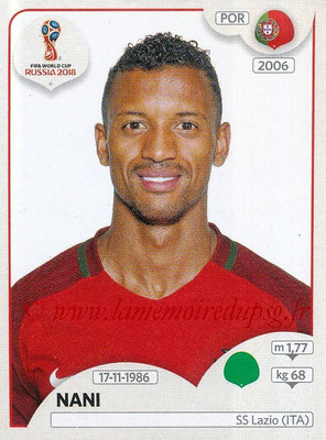 2018 - Panini FIFA World Cup Russia Stickers - N° 131 - NANI (Portugal)