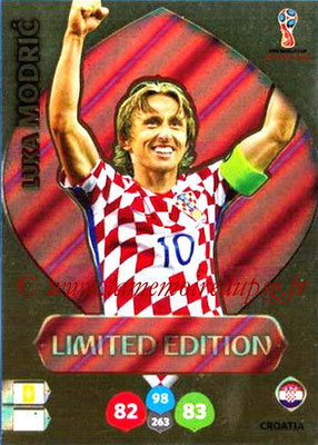 2018 - Panini FIFA World Cup Russia Adrenalyn XL - N° LE-LMO - Luka MODRIC (Croatie) (Limited Edition)