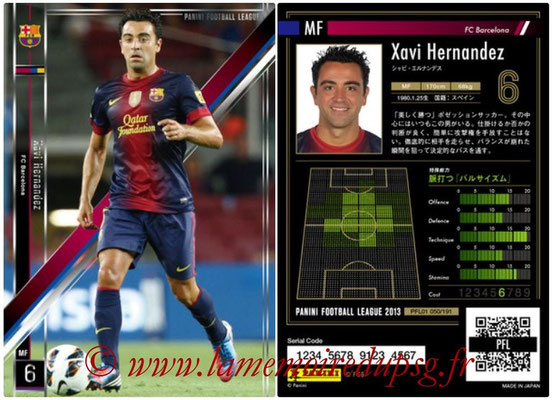 Panini Football League 2013 - PFL01 - N° 050 - Xavi Hernandez ( FC Barcelona )