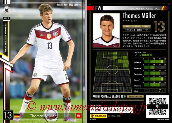 Panini Football League 2015 - PFL10 - N° 087 - Thomas MÜLLER (Allemagne)