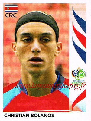 2006 - Panini FIFA World Cup Germany Stickers - N° 045 - Christian BOLANOS (Costa Rica)