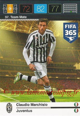 2015-16 - Panini Adrenalyn XL FIFA 365 - N° 097 - Claudio MARCHISIO (Juventus FC) (Team Mate)