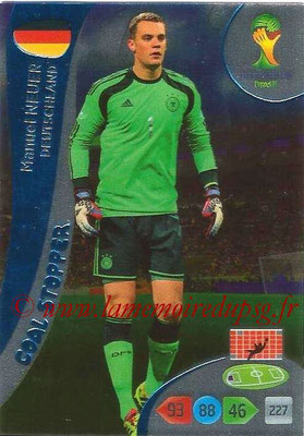 2014 - Panini FIFA World Cup Brazil Adrenalyn XL - N° 355 - Manuel NEUER (Allemagne) (Goal Stopper)