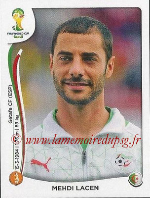 2014 - Panini FIFA World Cup Brazil Stickers - N° 594 - Mehdi LACEN (Algérie)