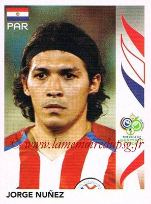 2006 - Panini FIFA World Cup Germany Stickers - N° 119 - Jorge NUNEZ (Paraguay)