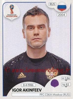 2018 - Panini FIFA World Cup Russia Stickers - N° 034 - Igor AKINFEEV (Russie)