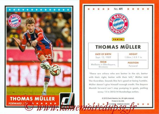 2015 - Panini Donruss Soccer - N° 041 - Thomas MÜLLER (FC Bayern Munich)