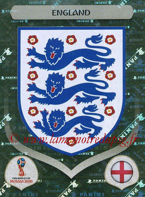2018 - Panini FIFA World Cup Russia Stickers - N° 572 - Ecusson Angleterre