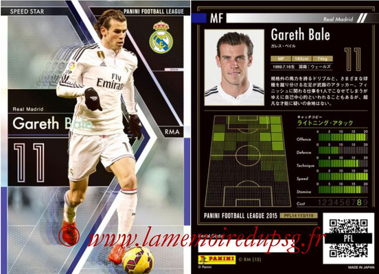 Panini Football League 2015 - PFL14 - N° 113 - Gareth BALE (Real Madrid CF) (Speed Star)