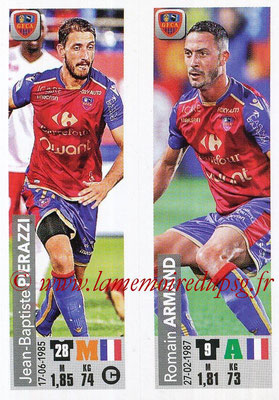 2018-19 - Panini Ligue 1 Stickers - N° 517 - Jean-Baptiste PIERAZI + Romain ARMAND (Gazelec Ajaccio)