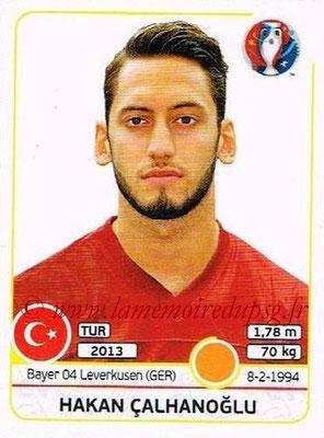 Panini Euro 2016 Stickers - N° 420 - Hakan CALHANOGLU (Turquie)