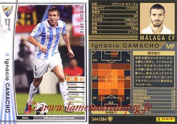 2012-13 - WCCF - N° 344 - Ignacio CAMACHO (Malaga CF)