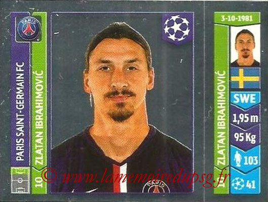 2014-15 - Panini Champions League N° 444 - Zlatan IBRAHIMOVIC (Paris Saint-Germain)