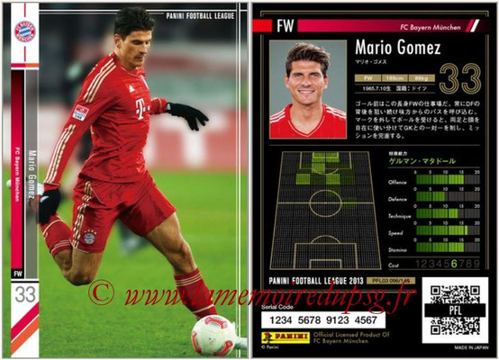 Panini Football League 2013 - PFL03 - N° 096 - Mario Gomez (Bayern Munich)