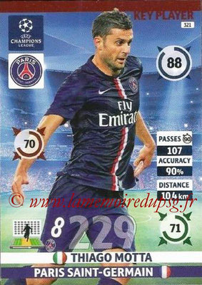 2014-15 - Adrenalyn XL champions League N° 321 - Thiago MOTTA (Paris Saint-Germain) (Key Player)