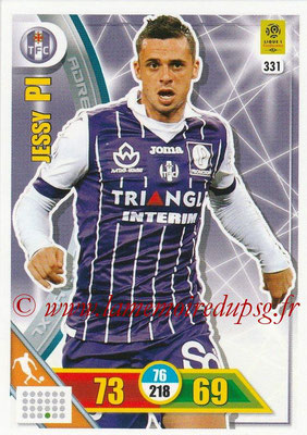 2017-18 - Panini Adrenalyn XL Ligue 1 - N° 331 - Jessy PI (Toulouse)