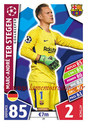 2017-18 - Topps UEFA Champions League Match Attax - N° 020 - Marc-André TER STEGEN (FC Barcelone)