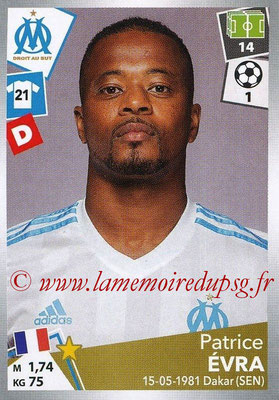 2017-18 - Panini Ligue 1 Stickers - N° 213 - Patrice EVRA (Marseille)