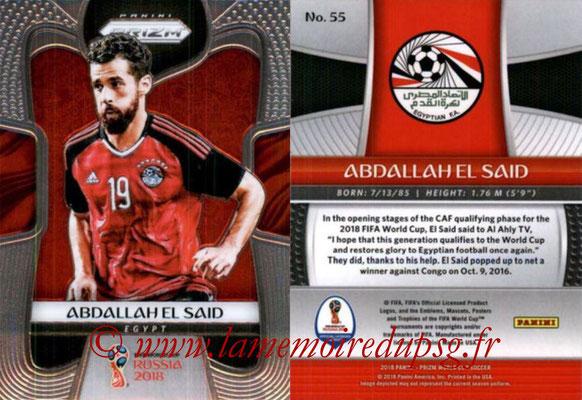 2018 - Panini Prizm FIFA World Cup Russia - N° 055 - Abdallah EL SAID (Egypte)