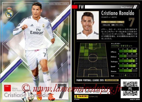 Panini Football League 2015 - PFL10 - N° 037 - Cristiano RONALDO (Real Madrid) (Star +)