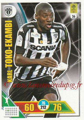 2017-18 - Panini Adrenalyn XL Ligue 1 - N° 036 - Karl TOKO-EKAMBI (Angers)