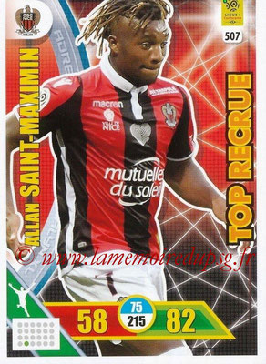 2017-18 - Panini Adrenalyn XL Ligue 1 - N° 507 - Allan SAINT-MASIMIN (Nice) (Top Recrue)
