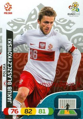 Panini Euro 2012 Cards Adrenalyn XL - N° 158 - Jakub BLASZCZYKOWSKI (Pologne)