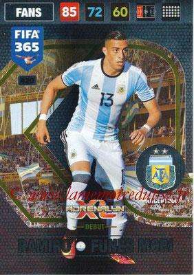 2016-17 - Panini Adrenalyn XL FIFA 365 - N° 420 - Ramiro FUNES MORI (Argentine) (Debut)