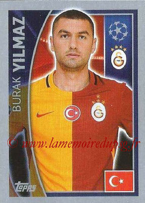 2015-16 - Topps UEFA Champions League Stickers - N° 203 - Burak YILMAZ (Galatasaray AS)