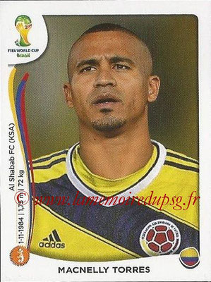 2014 - Panini FIFA World Cup Brazil Stickers - N° 197 - Macnelly TORRES (Colombie)