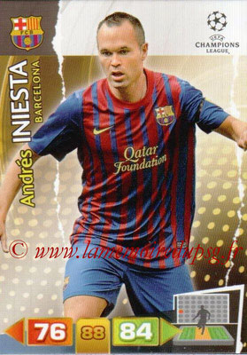 2011-12 - Panini Champions League Cards - N° 029 - Andres INIESTA (FC Barcelone)