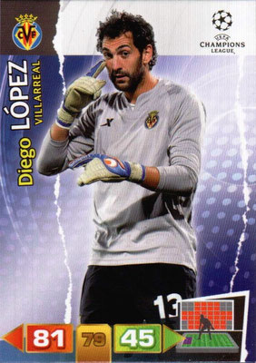 2011-12 - Panini Champions League Cards - N° 258 - Diego LOPES (Villarreal)