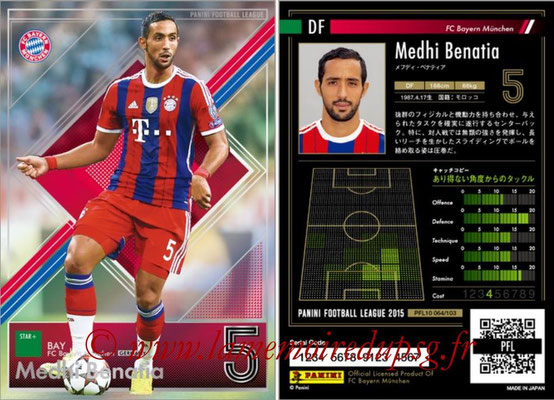 Panini Football League 2015 - PFL10 - N° 064 - Medhi BENATIA (Bayern Munich) (Star +)
