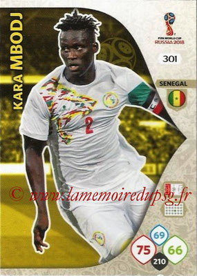2018 - Panini FIFA World Cup Russia Adrenalyn XL - N° 301 - Kara MBODJ (Senegal)