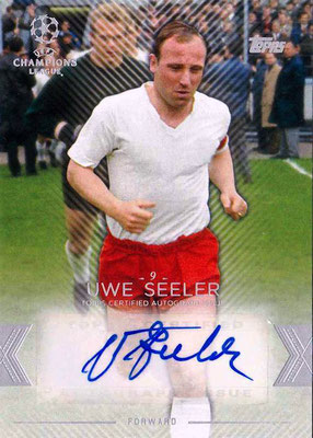 2015-16 - Topps UEFA Champions League Showcase Soccer - N° CLA-US - Uwe SEELER (Hambourg SV) (Base Autographs Cards)