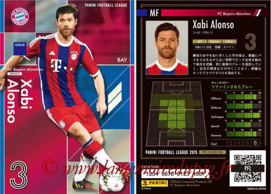 Panini Football League 2015 - PFL12 - N° 091 - Xabi ALONSO (Bayern Munich) (Super MF)
