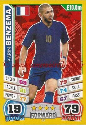 Topps Match Attax England 2014 - N° 115 - Karim BENZEMA (France)