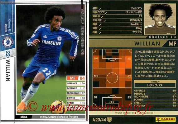 2013-14 - WCCF - N° A20 - WILLIAN (Chelsea FC)