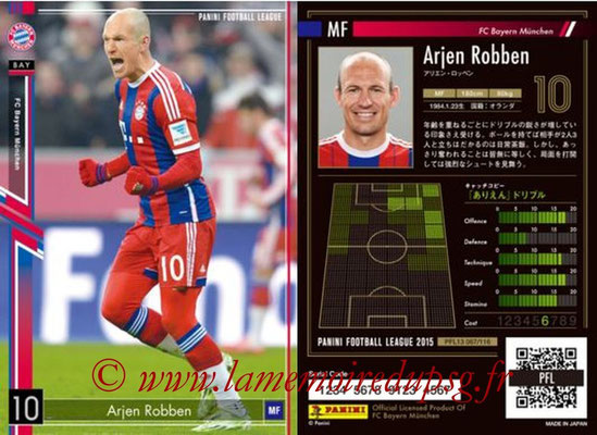 Panini Football League 2015 - PFL13 - N° 067 - Arjen ROBBEN (FC Bayern Munich)