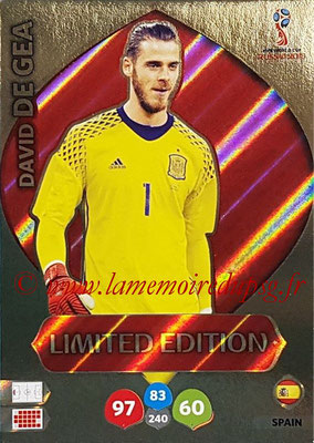 2018 - Panini FIFA World Cup Russia Adrenalyn XL - N° LE-DD - David DE GEA (Espagne) (Limited Edition)