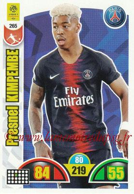 2018-19 - Panini Adrenalyn XL Ligue 1 - N° 265 - Presnel KIMPEMBE (Paris Saint-Germain)