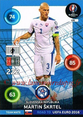 Panini Road to Euro 2016 Cards - N° 191 - Martin SKRTEL (République Slovaque)