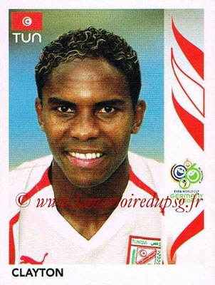 2006 - Panini FIFA World Cup Germany Stickers - N° 571 - CLAYTON (Tunisie)