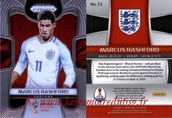 2018 - Panini Prizm FIFA World Cup Russia - N° 072 - Marcus RASHFORD (Angleterre)