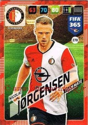 2017-18 - Panini FIFA 365 Cards - N° 278 - Nicolai JORGENSEN (Feyenoord)