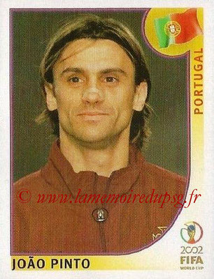 2002 - Panini FIFA World Cup Stickers - N° 309 - Joao PINTO (Portugal)