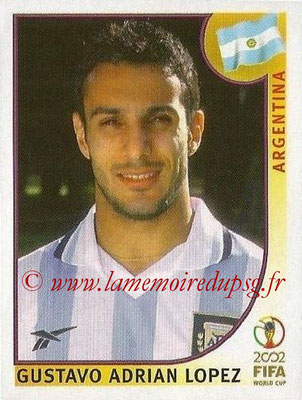 2002 - Panini FIFA World Cup Stickers - N° 397 - Gustavo Adrian LOPEZ (Argentine)
