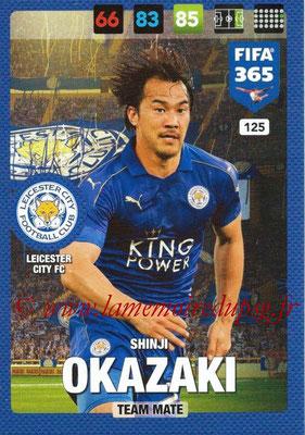 2016-17 - Panini Adrenalyn XL FIFA 365 - N° 125 - Shinji OKAZAKI (Leicester City FC)