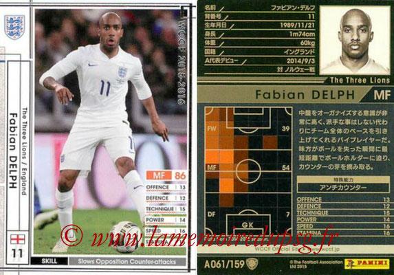 2015-16 - Panini WCCF - N° A061 - Fabian DELPH (Angleterre)