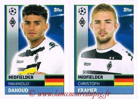 2016-17 - Topps UEFA Champions League Stickers - N° QFA 9-10 - Christoph KRAMER + Mahmoud DAHOUD (VFL Borussia Mönchengladbach)